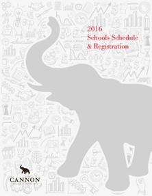 2016 Schools Schedule