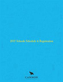 2017 Schools Schedule