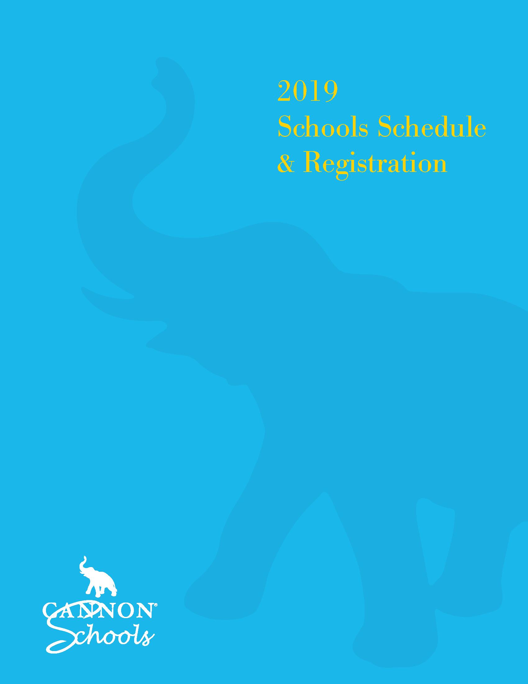2019 Schools Schedule