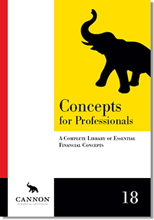 Cannon Concepts for Professionals, 18th Edition